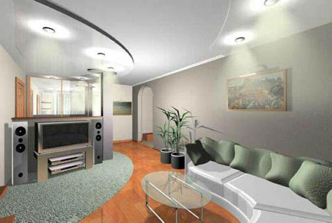Дизайн интерьера гостиной в красном